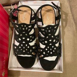 Cupcake Black Sandals